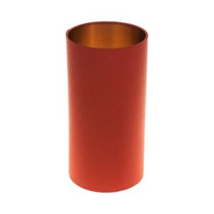 Burnt Orange Tall Drum Lampshade Brushed Copper Inner