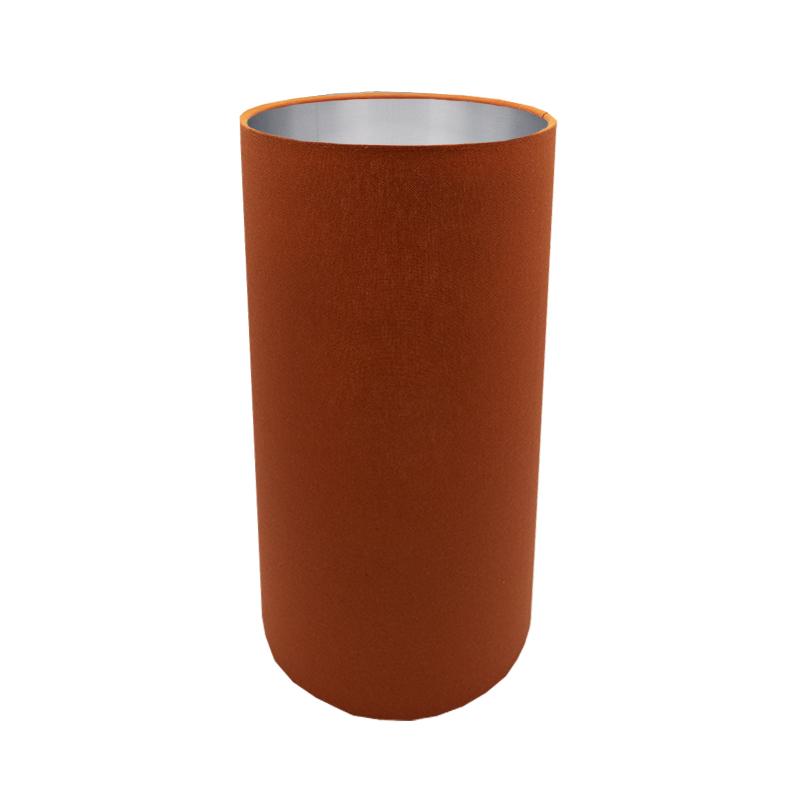 Burnt Orange Tall Drum Lampshade, Tall Barrel Lamp Shades