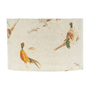Country Pheasant Drum Lampshade
