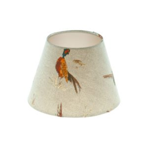 Country Pheasant Empire Lampshade Champagne Inner