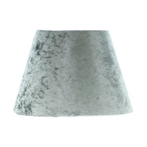 Grey Crushed Velvet Empire Lampshade