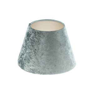 Grey Crushed Velvet Empire Lampshade Champagne Inner