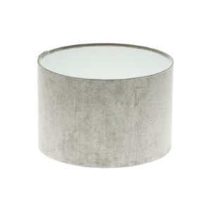 Dove Grey Velvet Drum Lampshade