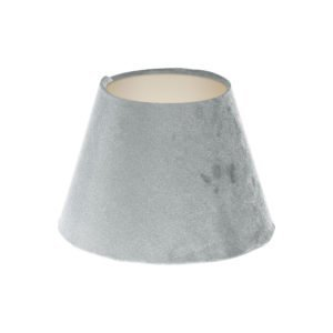 Dove Grey Velvet Empire Lampshade Champagne Inner