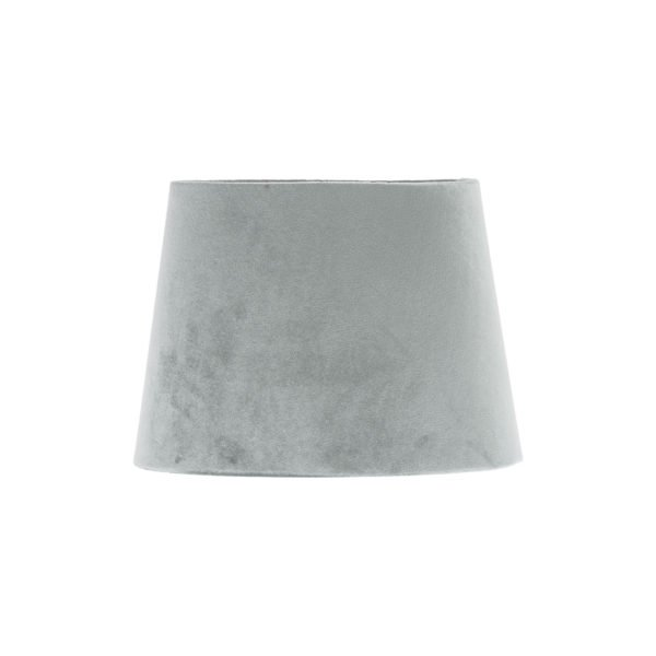Dove Grey Velvet French Drum Lampshade