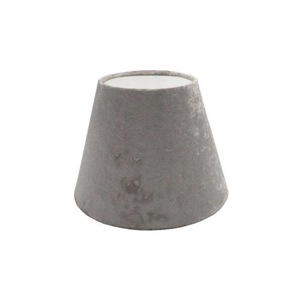 Grey Crushed Velvet Empire Lampshade