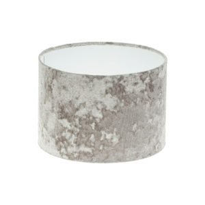Grey Crushed Velvet Drum Lampshade