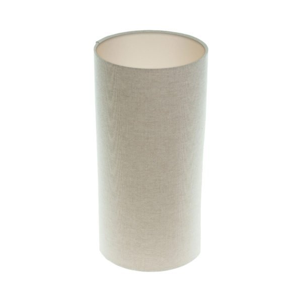 Light Beige Tall Drum Lampshade Champagne Inner
