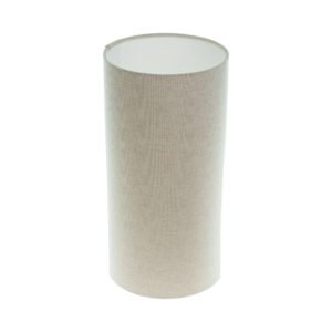 Light Beige Tall Drum Lampshade