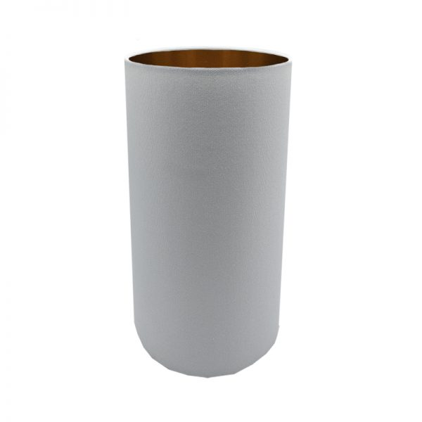 Light Grey Tall Drum Lampshade
