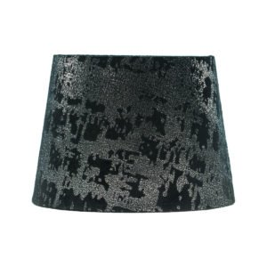 Mercury Black Velvet French Drum Lampshade