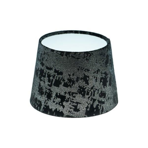Mercury Black Velvet French Drum Lampshade