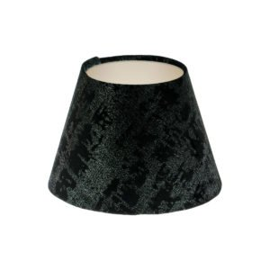 Mercury Black Velvet Empire Lampshade Champagne Inner