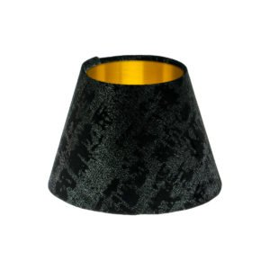 Mercury Black Velvet Empire Lampshade Brushed Gold InnerMercury Black Velvet Empire Lampshade Brushed Gold Inner