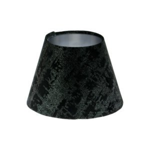 Mercury Black Velvet Empire Lampshade Brushed Silver Inner