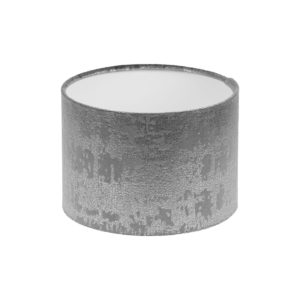 Mercury Dove Grey Velvet Drum Lampshade