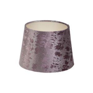 Mercury Lavender Velvet French Drum Lampshade Champagne Inner