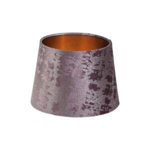 Mercury Lavender Velvet French Drum Lampshade Brushed Copper Inner