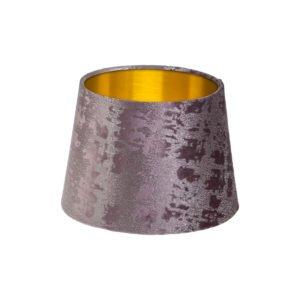 Mercury Lavender Velvet French Drum Lampshade Brushed Gold Inner