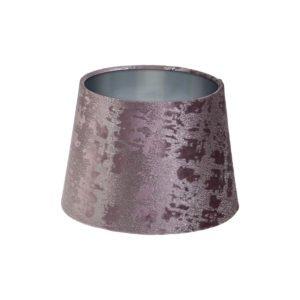 Mercury Lavender Velvet French Drum Lampshade Brushed Silver Inner