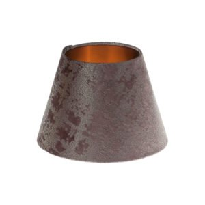 Mercury Purple Velvet Empire Lampshade Brushed Copper Inner