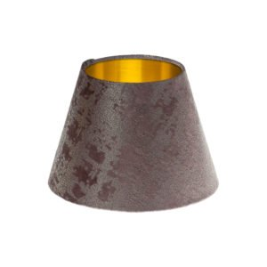 Mercury Lavender Velvet Empire Lampshade Brushed Gold Inner