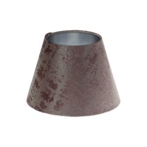 Mercury Lavender Velvet Empire Lampshade Brushed Silver Inner
