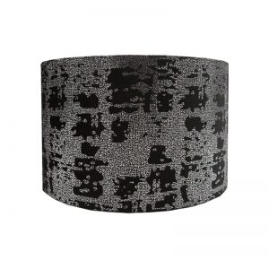 Mercury Black Velvet Drum Lampshade