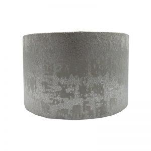 Mercury Dove Grey Velvet Drum Lampshade