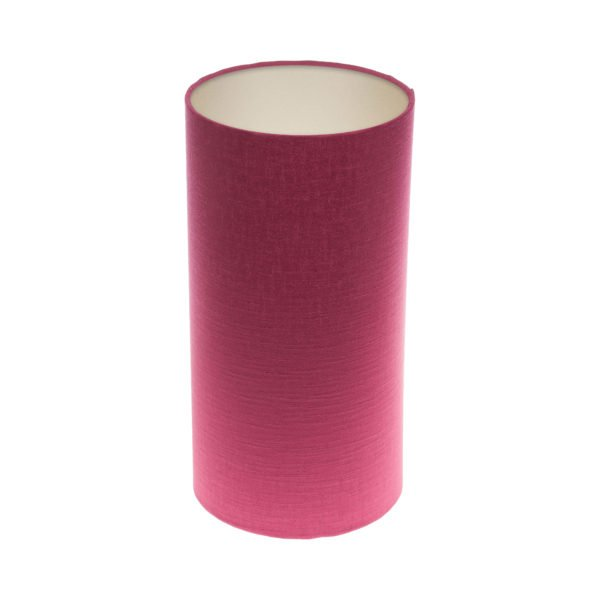 Pink Satin Tall Drum Lampshade Champagne Inner