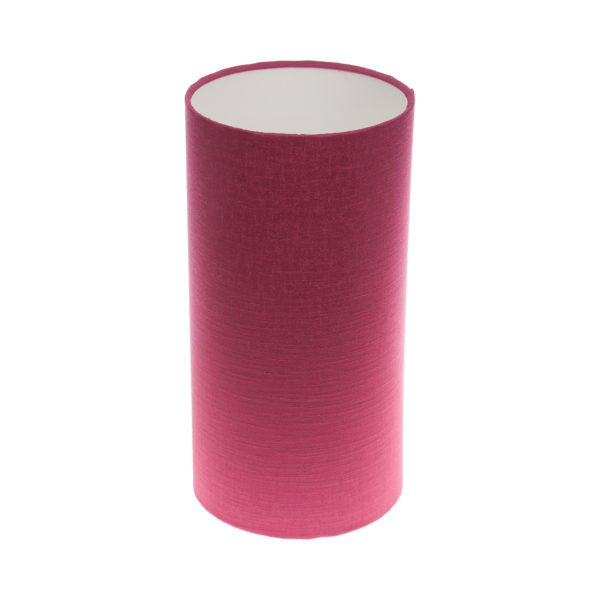 Pink Satin Tall Drum Lampshade