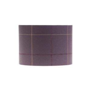 Winsford Lavender Tartan Drum Lampshade