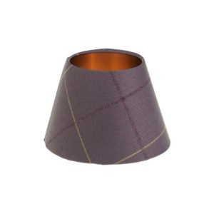 Winsford Lavender Tartan Empire Lampshade Brushed Copper Inner