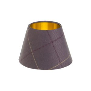 Winsford Lavender Tartan Empire Lampshade Brushed Gold Inner