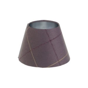 Winsford Lavender Tartan Empire Lampshade Brushed Silver Inner