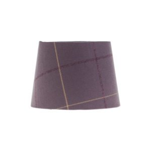 Winsford Lavender Tartan French Drum Lampshade