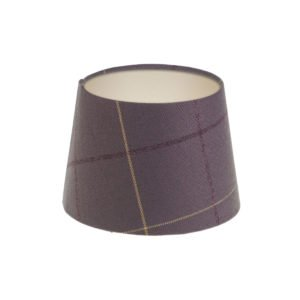 Winsford lavender Tartan French Drum Lampshade Champagne Inner