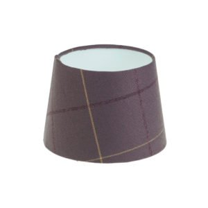 Winsford Lavender Tartan French Drum Lampshade