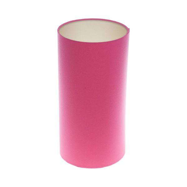 Sorbet Bright Pink Tall Drum Lampshade Champagne Inner