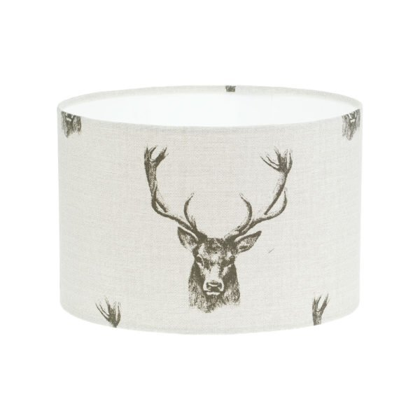 Stag Head Drum Lampshade