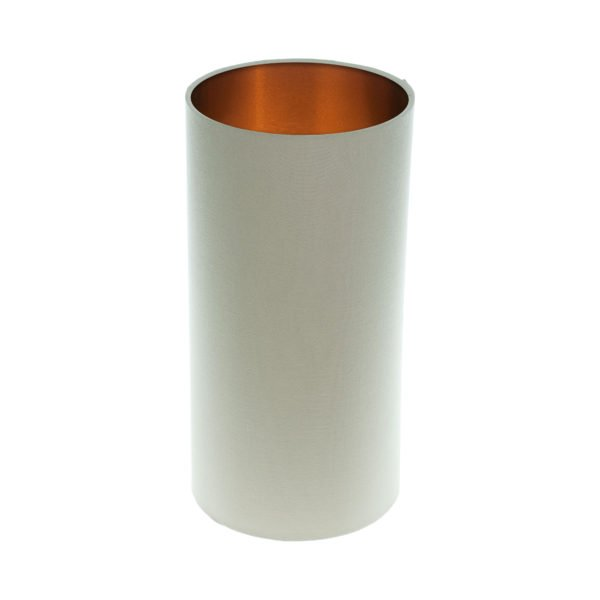 Stone Tall Drum Lampshade Brushed Copper Inner
