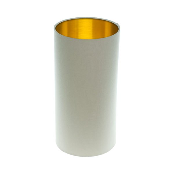 Stone Tall Drum Lampshade Brushed Gold Inner