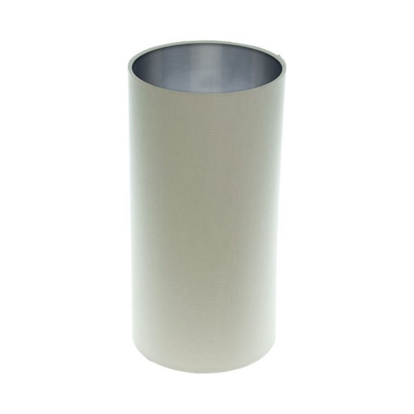Stone Tall Drum Lampshade Brushed Silver Inner