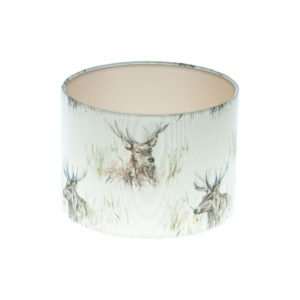 Voyage Wallace Stag Drum Lampshade Champagne Inner