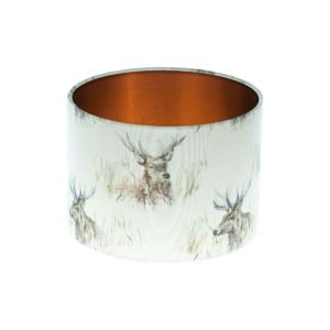 Wallace Stag Drum Lampshade Brushed Copper Inner