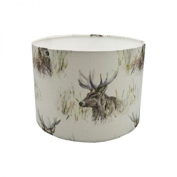 Voyage Wallace Stag Drum Lampshade