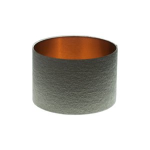 Alchemy Slate Drum Lampshade Brushed Copper Inner