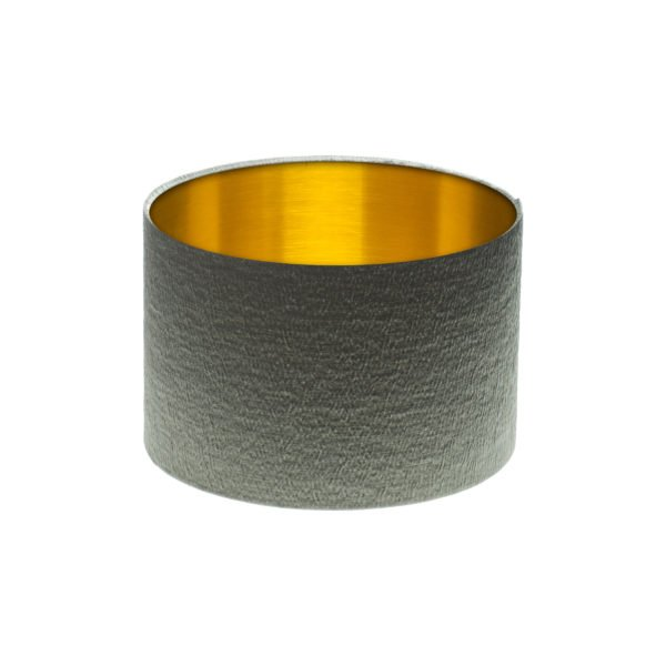 Alchemy Slate Drum Lampshade Brushed Gold Inner