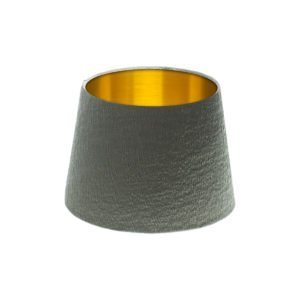Alchemy Slate French Drum Lampshade Brushed Gold Inner