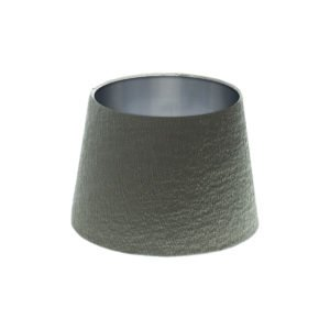 Alchemy Slate French Drum Lampshade Brushed Silver Inner